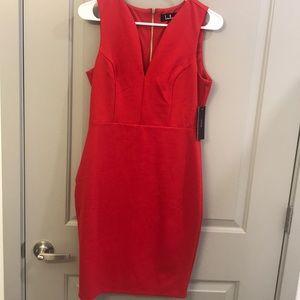 Red lulus zip up dress